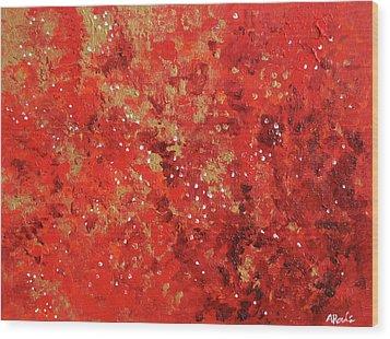 Atmospheric Red 201749 Wood Print by Alyse Radenovic