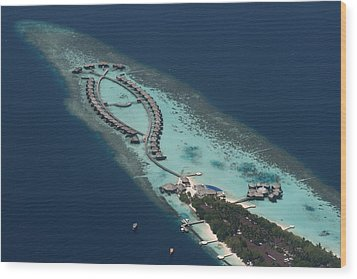 Atolls From The Air Wood Print