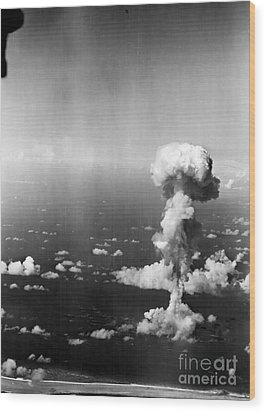Atomic Bomb Test, 1946 Wood Print by Granger