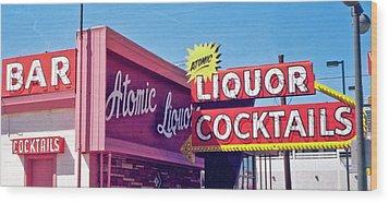 Wood Print featuring the photograph Atomic Liquors by Matthew Bamberg