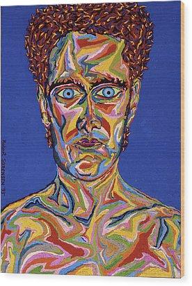 Atomic Visions - Self Portrait Wood Print by Robert SORENSEN