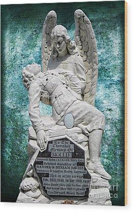 Wood Print featuring the photograph Ats Memorial by Nigel Fletcher-Jones