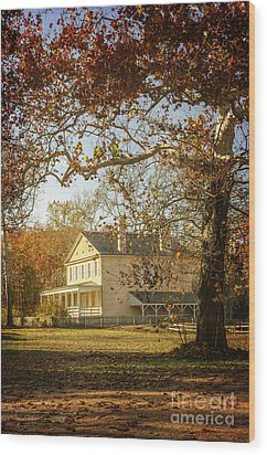 Atsion Mansion Wood Print