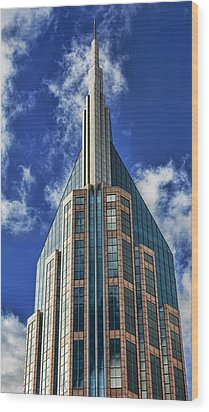 Wood Print featuring the photograph Att Nashville by Stephen Stookey