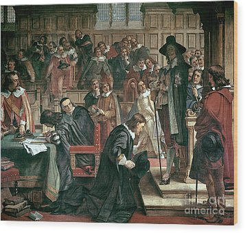 Attempted Arrest Of 5 Members Of The House Of Commons By Charles I Wood Print by Charles West Cope