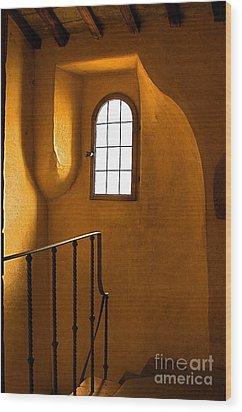 Wood Print featuring the photograph Attic Stairs-fiesole St.francis Monastery by Nicola Fiscarelli