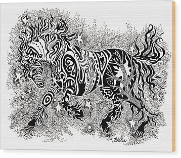Attitude In Motion Wood Print