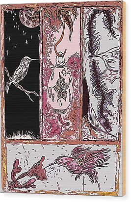 Attracting The Hummingbird Wood Print by Steve  Minton