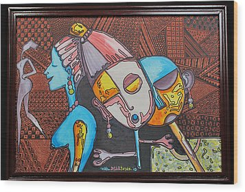 Attraction Of Femininity Wood Print by Olawale Babatunde