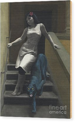 Attraction The Stairs Of Love Wood Print by Kelly Borsheim