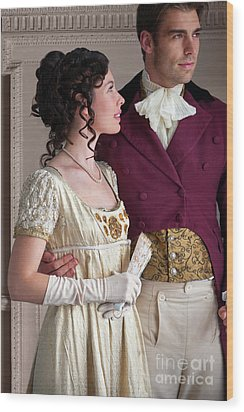 Attractive Regency Couple Wood Print