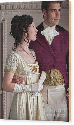 Attractive Regency Couple Wood Print by Lee Avison