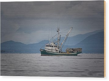 Wood Print featuring the photograph Attu Off Madrona by Randy Hall