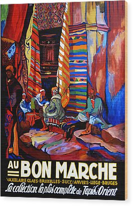 Wood Print featuring the painting Au Bon Marche by Tom Roderick