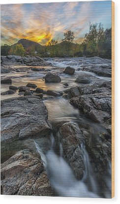 Wood Print featuring the photograph Auasble River Sunset by Mark Papke