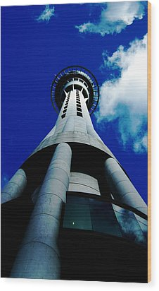 Auckland Sky Tower Wood Print by Ashlee Terras