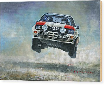 Audi Quattro Gr.4 1982 Wood Print by Yuriy Shevchuk
