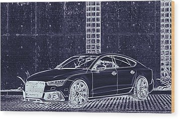 Audi Rs7 Vossen  Wood Print by PixBreak Art
