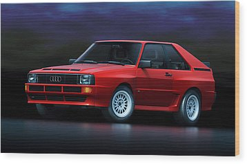 Wood Print featuring the digital art Audi Sport Quattro by Marc Orphanos