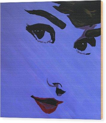 Audrey Hepburn-eyes For You Wood Print