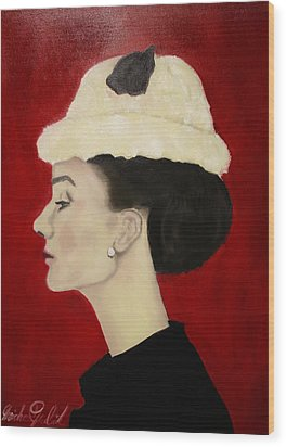 Audrey Hepburn Wood Print by Michael Kulick