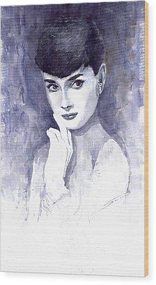 Audrey Hepburn  Wood Print by Yuriy  Shevchuk