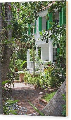 Audubon House Entranceway Wood Print