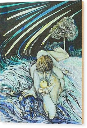 August Wood Print by Anna  Duyunova