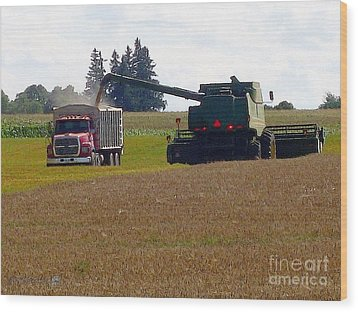 August Harvest Wood Print by J McCombie