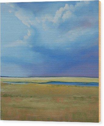 August Sky Wood Print by Jeanne Rosier Smith