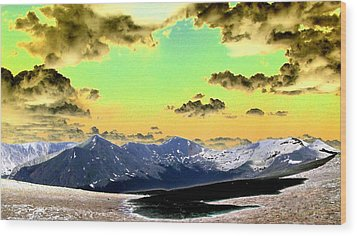 August Sky Wood Print by Peter  McIntosh