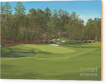 Augusta 11 And12th Hole Wood Print