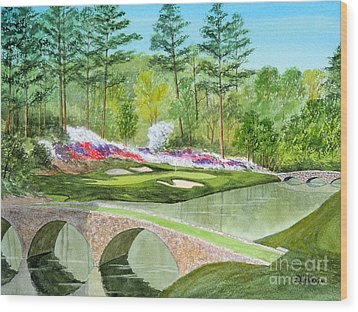 Augusta National Golf Course 12th Hole Wood Print