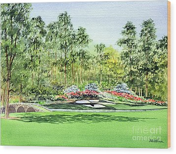 Augusta National Golf Course Wood Print