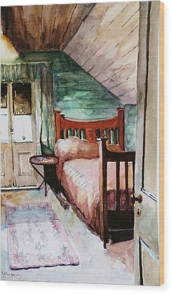 Aunty Dot's Room Wood Print by Kathy  Karas