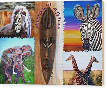 Auras Of Africa Wood Print