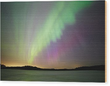 Aurora Borealis - Northern Lights Wood Print