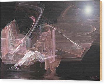 Aurora Wood Print by Emma Alvarez