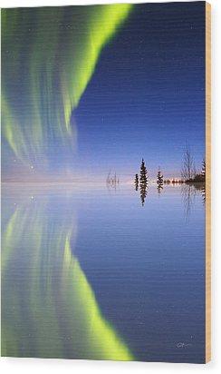 Aurora Mirrored Wood Print by Ed Boudreau