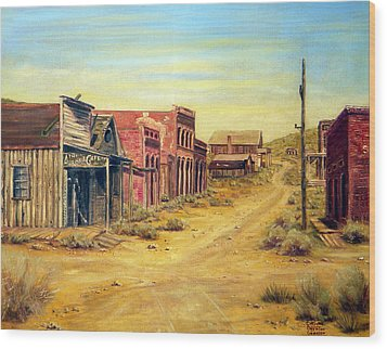 Aurora Nevada Wood Print by Evelyne Boynton Grierson