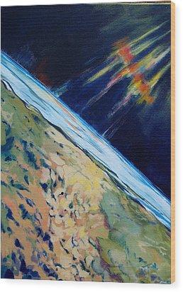Aurora Over Antartica Wood Print by Patricia Bigelow