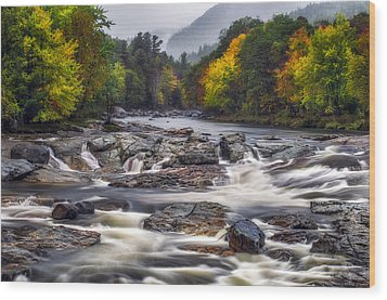Wood Print featuring the photograph Ausable Cascades by Mark Papke