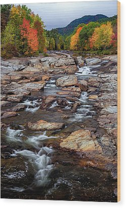Wood Print featuring the photograph Ausable by Mark Papke