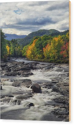 Wood Print featuring the photograph Ausable River Jay Ny by Mark Papke