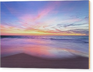 Wood Print featuring the photograph Aussie Sunset, Claytons Beach, Mindarie by Dave Catley