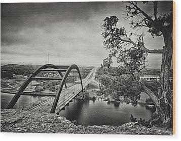 Austin 360 Bridge In Early Dawn Wood Print by Lisa  Spencer