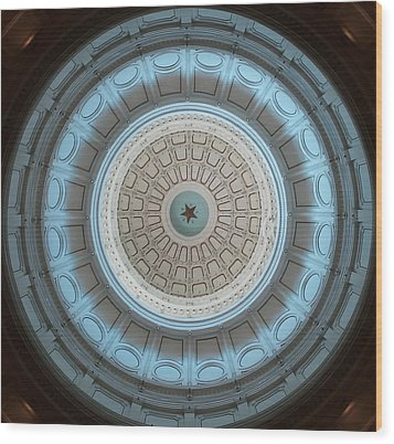Austin Dome In Gray/blue Wood Print