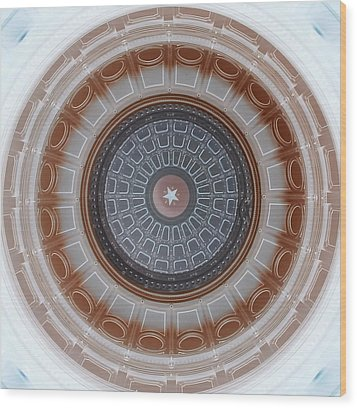 Austin Dome In Gray/brown Wood Print