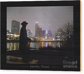 Austin Hike And Bike Trail - Iconic Austin Statue Stevie Ray Vaughn - One Greeting Card Poster Wood Print