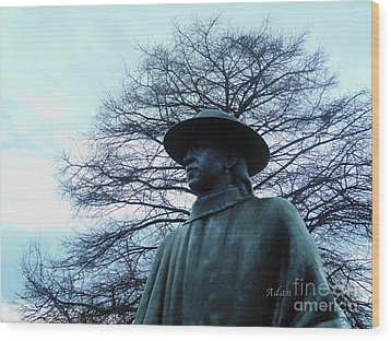 Austin Hike And Bike Trail - Iconic Austin Statue Stevie Ray Vaughn - Two Wood Print